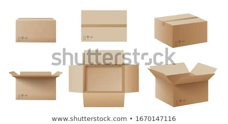 Stockfoto: Karton · dozen · ingesteld · gesloten · vier · verschillend