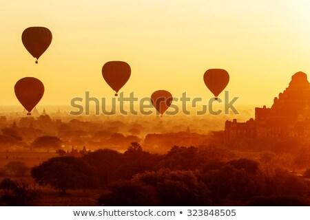 Balooning over Bagan - Myanmar Stock photo © jeayesy