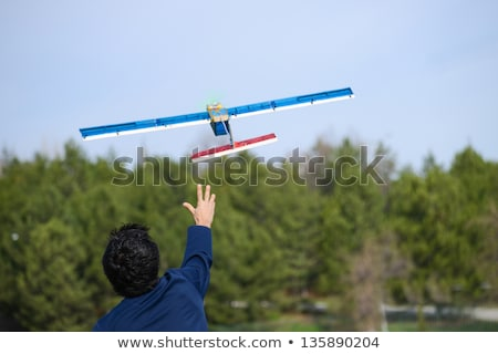 man and child with a airplane model remote control Stock photo © adrenalina