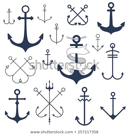 Doodle anker icon touw symbool Stockfoto © pakete