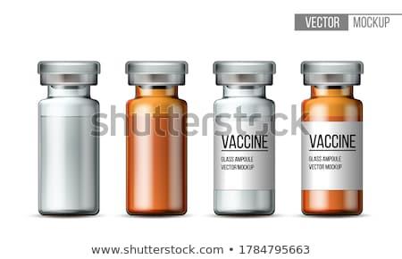 Orvosi üveg illusztráció fehér grafikus konténer Stock fotó © bluering