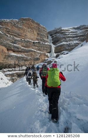 Foto stock: Invierno · montanas · región · Azerbaiyán · cielo · sol