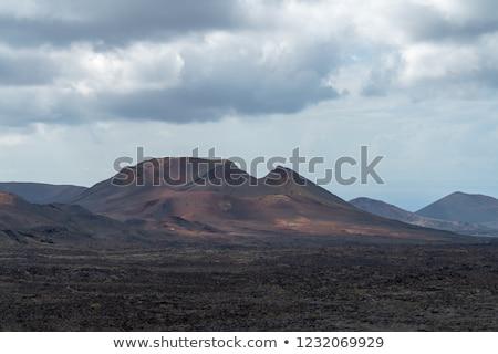 Vulkanisch park strand hemel water wolken Stockfoto © meinzahn