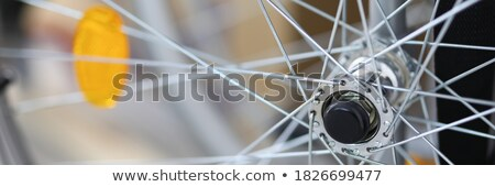 bicycle closeup standing on the old street  Stock photo © OleksandrO