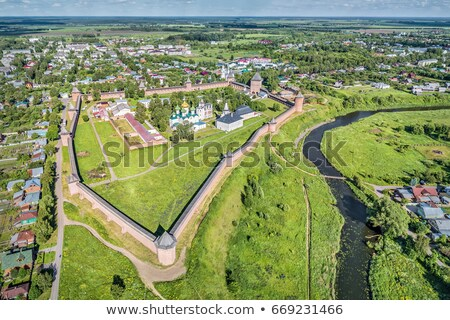 Luchtfoto klooster Rusland oude stad Stockfoto © Mikko