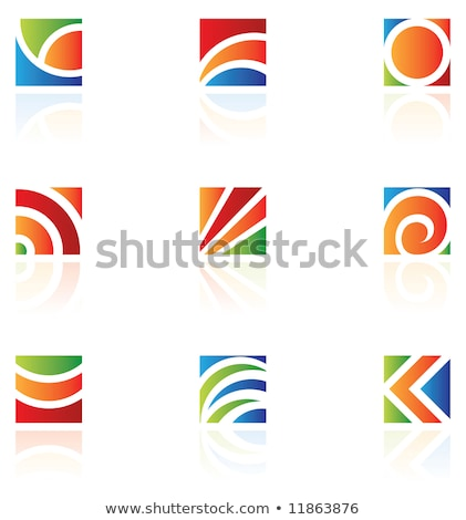 business · corporate · logo · brief · vierkante · cirkel - stockfoto © cidepix