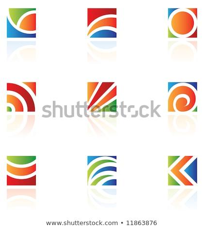 iş · kurumsal · logo · mektup · kare · daire - stok fotoğraf © cidepix