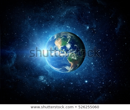 Planet earth on blue background Stock photo © bluering