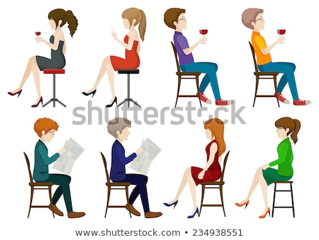 Faceless ladies and gentlemen sitting down Stock photo © bluering