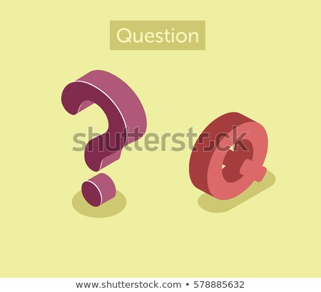 flashcard letter q is for question mark stock photo © bluering