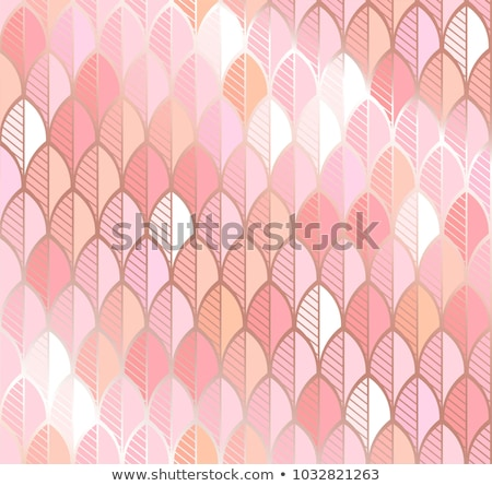 vector seamless pattern feathers and roses stock photo © trishamcmillan
