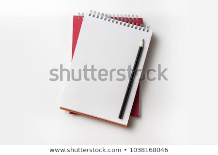 Close up of two red journals on white background Stock photo © tish1