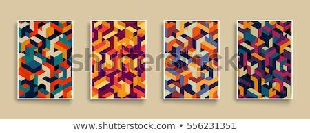 アイソメトリック 素材 キューブ カラフル ブロック ゲーム ストックフォト © Voysla