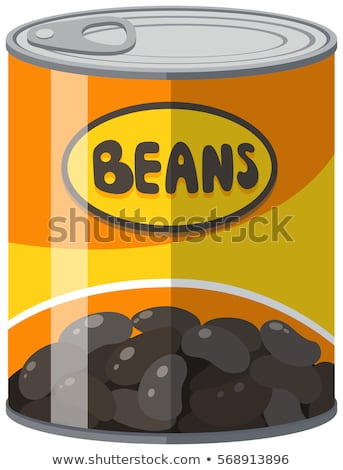 Black beans in aluminum can Stock photo © bluering