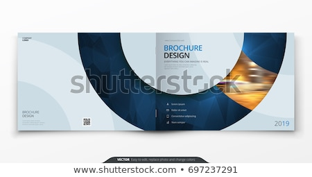 creative booklet brochure template design with rectangle shapes Stock photo © SArts
