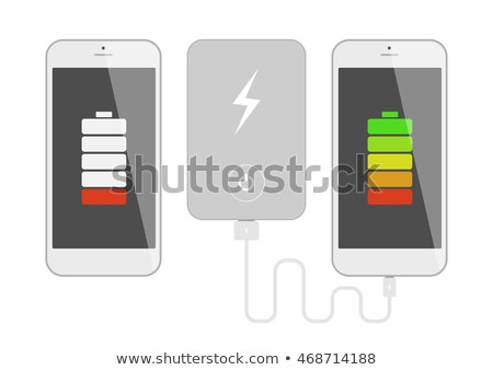 white smartphone charged usb Stock photo © romvo