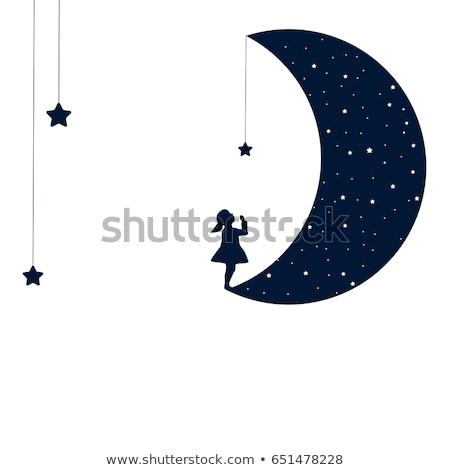 luna · sonno · foto · babbo · natale · dormire · lucido - foto d'archivio © adrenalina
