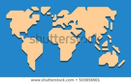 Stock photo: Pictogram of World Map