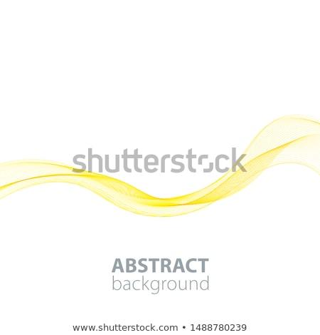 Abstract Golden Waved Background Stock photo © olgaaltunina