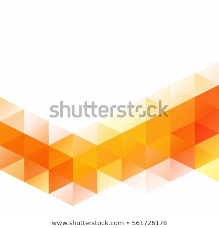 Vector orange mosaic background Stock photo © fresh_5265954