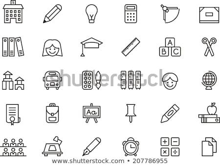 Iskola tábla vonal ikon vektor izolált Stock fotó © RAStudio