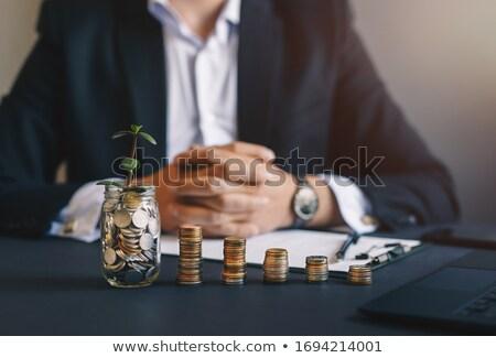 zengin · adam · para · iş · işadamı - stok fotoğraf © bluering