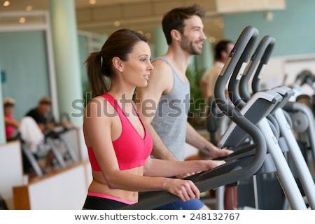 gordo · entrenamiento · loco · escala · feliz · trabajo - foto stock © vlad_star