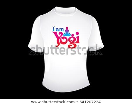 creative i am yogi tshirt Stock photo © pathakdesigner