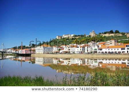 tipik · köy · Portekiz · manzara · gökyüzü · çim - stok fotoğraf © inaquim