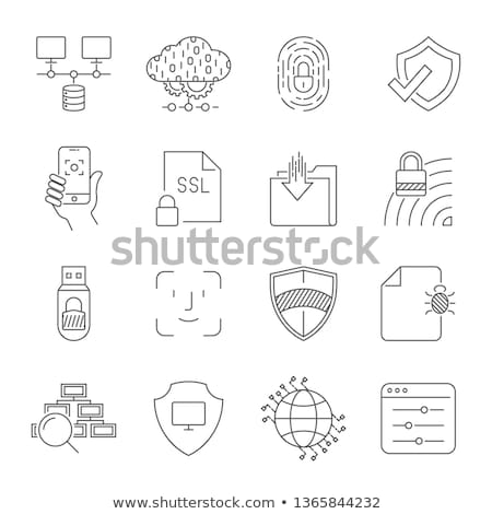 Cyber Security Solid Web Icons Stock photo © Anna_leni