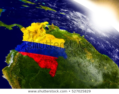 Bandeira Colômbia espaço ilustração 3d Foto stock © Harlekino