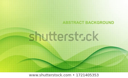 Green and white corporate wavy abstract background Stock photo © saicle