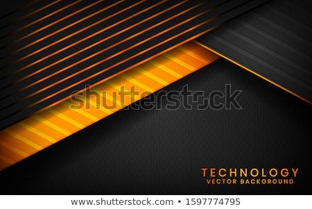 Nero arancione abstract strato geometrica texture Foto d'archivio © Kheat