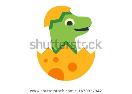 Dinoszauruszok herceg matrica terv illusztráció háttér Stock fotó © bluering