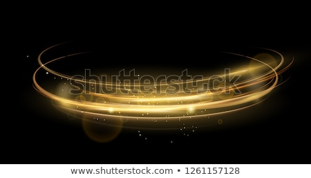 vector transparent wave light effect background in golden color Stock photo © SArts