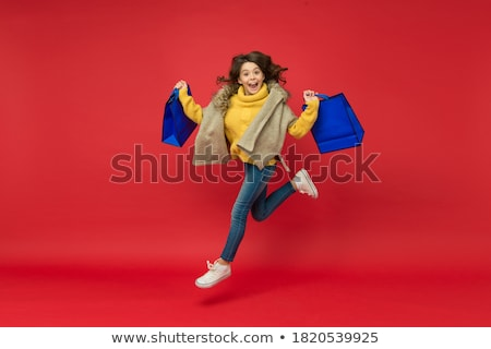 girls after a successful shopping day stock photo © is2