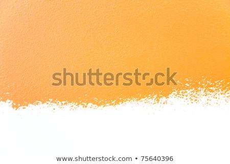 Photo stock: Ond · de · murs · peints · Orange · Texture · réelle · isolée · sur