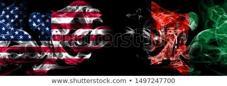 Football flammes pavillon Afghanistan noir 3d illustration Photo stock © MikhailMishchenko