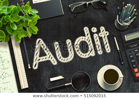 audit report handwritten on black chalkboard 3d rendering stock photo © tashatuvango