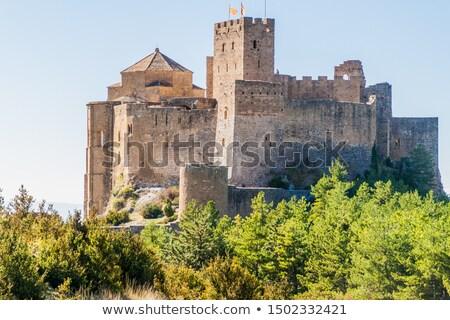 Landscape with medieval castle of Loarre, Spain Stock photo © Nobilior