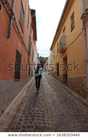 Keskeny utca ősi város Spanyolország Valencia Stock fotó © smartin69
