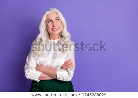 Grijs grootmoeder goede kijken pop art retro Stockfoto © studiostoks