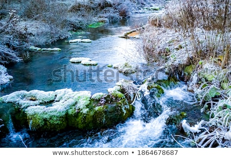 Pequeño transmisión invierno la exposición a largo tiro agua Foto stock © Mps197