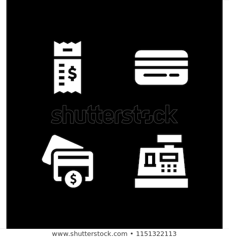 Supermarket store counter desk with cashier icon Stock photo © studioworkstock