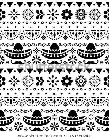 mexicano · tradicional · textura · tela · moderna - foto stock © redkoala