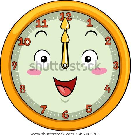 Mascot Clock 12 Noon Stock photo © lenm