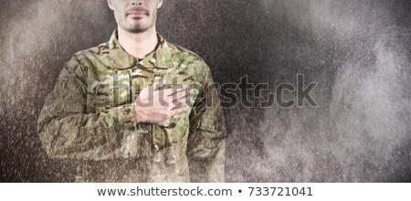 amerikan · bayrağı · atış · stüdyo · arka · plan · Yıldız · bayrak - stok fotoğraf © wavebreak_media