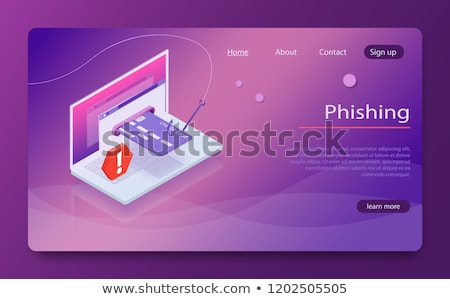 Cartão de crédito pescaria gancho laptop imagem computador Foto stock © wavebreak_media
