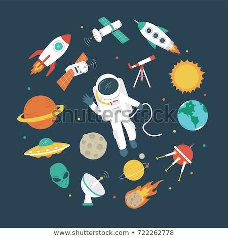 aventura · alienígena · nave · espacial · céu · globo · lua - foto stock © popaukropa