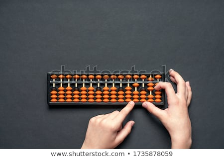 Boy counting on an abacus Stock photo © IS2